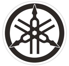 Yamaha Logo, Yamaha Motorcycles, Cars And Motorcycles, Logo Sticker, Sticker Design, Logo Moto, Fox Racing Logo, Small Crown Tattoo, Heineken
