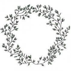 Wreath drawing wreath watercolor drawing on white paper background Wreath Drawing, Plant Drawing, Vine Drawing, Bullet Journal Inspiration, Watercolor Flowers, Drawing Flowers, Doodle Art, Embroidery Patterns, Hand Lettering