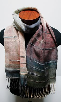 Mens Long Scarf Soft Warm Thick Knit Winter Scarves Grey/&Pale