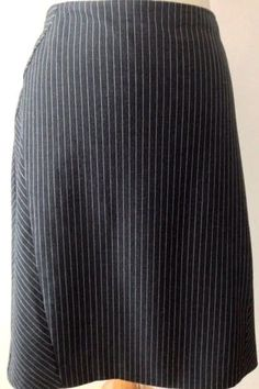 Halogen Pencil Skirt Size 14 Gray Stripe Straight Poly Viscose Career Nordstrom…