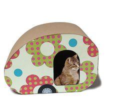 Camper Fiore è la casa del gatto stile vintage di bottegadicartone