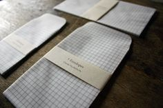 Uguisu | Tracing Paper Envelope Grid Wide (via: http://fieldandsea.tumblr.com/)