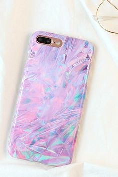Purple Painting iphone 6, iphone 6 plus, iphone 7 & iphone 7 plus protective Case For fashion cute girly