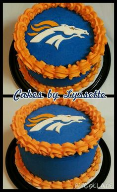 Denver Broncos Cake Just Cakes, Cakes And More, Denver Broncos Cake, Armadillo Cake, Military Cake, Sport Cakes, Custom Cupcakes, Cake Images, Cupcake Cookies