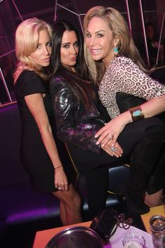 Kyle Richards, Adrienne Maloof and Camille Grammer of the Real Housewives of Beverly Hills at Moon Nightclub, 03.23.12