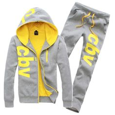 2015 New Brand Spring/Autumn Sports Suit 4 Colors Fashion Men's Sudaderas With Printing Letters Mens Hoodies And Sweatshirts Soccer Outfits, Sport Outfits, Hoodie Sweatshirts, Mens Tracksuit Set, Mens Suits, Suit Men, Winter Hoodies, Ali Express, Modern Outfits
