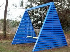 DIY Modern A-Frame Swing Set