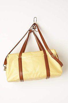 872015d752 Anthropologie Weekender Yellow Polka Dot Travel Bag Weekend Travel Bag