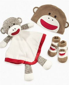 Baby Starters Baby Toy, Sock Monkey Snuggle Buddy - Kids - Macy's $12