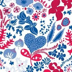 Red white and blue fabric