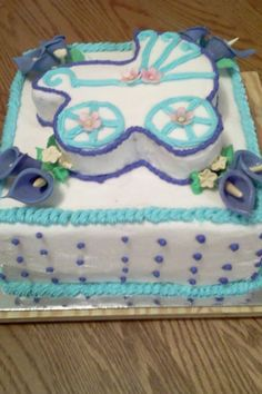 Baby shower cake by Sarah Walls.