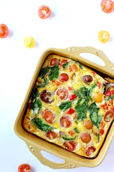 Cooked for 35 min + This Dairy Free Frittata is the easiest breakfast and ideal for meal prepping! Dairy Free Quiche Recipes, Dairy Free Frittata, Dairy Free Recipes For Kids, Dairy Free Eggs, Frittata Recipes, Sugar Free Recipes, Easy Soup Recipes, Delicious Dinner Recipes, Easy Healthy Recipes
