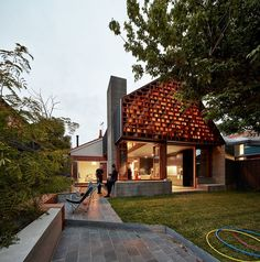 Bungalow-Style Home Added a Playful Extension to Encourage Family Interaction