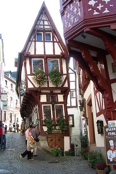 Bernkastel on the Moselle river, Germany (They have some of the most beautiful buildings in Germany)