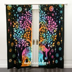 Elephant Tree Of Life Curtains Tapestry Drapes Window Treatment Curtain Valances #Unbranded #Traditional