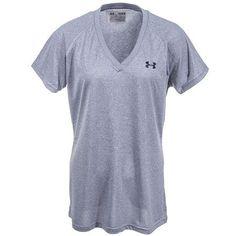 5068b1119e Under Armour Shirts  Women s Heather Grey 1228321 025 UA Tech Moisture  Wicking Shirt