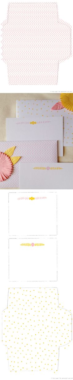 free printable envelopes and stationery cards – by Lisa Rupp – source: thatsha … - Diy Stationery Free Printable Stationery, Printable Paper, Free Printables, Diy Paper, Paper Crafts, Diy Christmas Presents, Lisa, Mothers Day Cards, Paper Envelopes