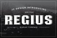 Regius Typeface by Jan-Christian Bruun on @creativemarket