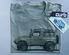 The Curb Shop - Curb Land Rover Defender T-Shirt  Great gift for Dad or the car Guy in your life!