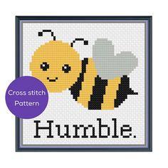 Bee Humble Cross Stitch Pattern