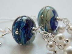 Artisan Handmade Lampwork Glass Bead Ocean by KreationsbyKarenNB, $40.00