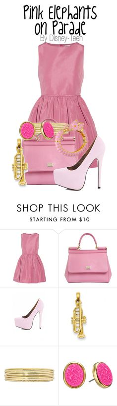 """Pink Elephants on Parade"" by disney-teen ❤ liked on Polyvore featuring RED Valentino, Dolce&Gabbana, AX Paris, Kevin Jewelers, Liz Claiborne, Kate Spade and Kenneth Jay Lane"