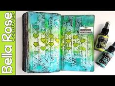 Paper Towel Background + Dylusions Spray Inks - Mixed Media Art Journal - YouTube