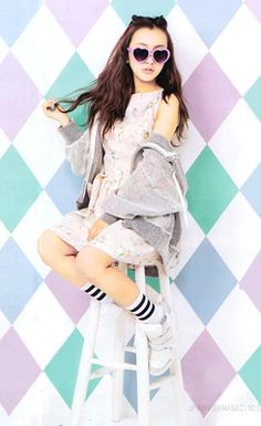 Kawaii fashion, photography, asian, girl