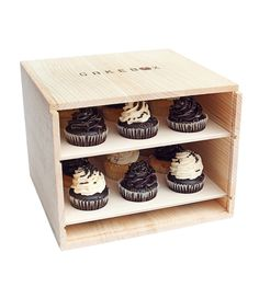 Cakebox | A reusable raw pinewood box designed to safely carry cake and ... | Food Storage Containers