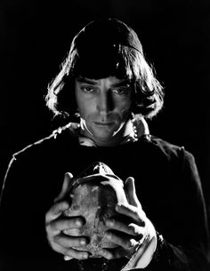 "hauntedbystorytelling: "" Clarence Sinclair Bull :: Buster Keaton as Hamlet, ca. 1930 / src: humus more [+] by this photographer / more [+] Buster Keaton posts "" Michael Keaton, Diane Keaton, Golden Age Of Hollywood, Vintage Hollywood, Classic Hollywood, Hollywood Cinema, Kirk Douglas, Portraits, Portrait Shots"
