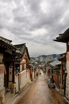 Korean traditional houses, or hanok, in Seoul