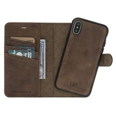 iPhone X Detachable Wallet Case  Snap-on Case 2 Case in 1