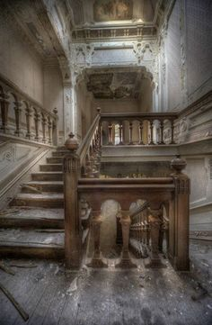 Abandoned mansion, house