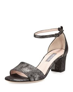 Skyler+Metallic+City+Sandal,+Anthracite+by+SJP+by+Sarah+Jessica+Parker+at+Neiman+Marcus.