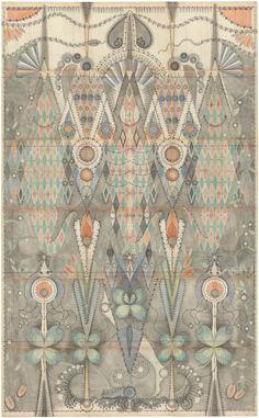 Water color, graphite, colored pencil on aged graphite paper | Louise Despont