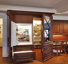 Most Design Ideas Wayfair White Kitchen Chairs Pictures, And Inspiration – Modern House Kitchen Pantry Design, Kitchen Pantry Cabinets, Luxury Kitchen Design, Kitchen Appliances, Kitchen Storage, Custom Kitchens, Luxury Kitchens, White Kitchen Chairs, Hidden Pantry