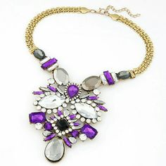 NEW Statement Necklace Color: Purple Fashion Jewelry Jewelry Necklaces