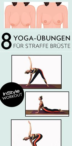 Beautiful breasts through yoga? We'll show you eight yoga exercise Planet Fitness Workout, Fitness Workouts, Fitness Herausforderungen, Cardio Workout At Home, Physical Fitness, Fun Workouts, At Home Workouts, Training Motivation, Fitness Motivation