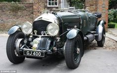 This Bentley has been fitted with a 27-litre V12 Rolls-Royce Meteor engine which was derived from the legendary Merlin engine used in the Spitfire and Lancaster bomber.
