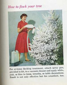 1960 Christmas How to Flock Your Tree by Kristen Mary, via Flickr