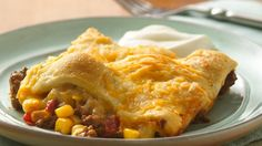 Top a sassy Mexican filling with flaky Crescents in a quick and easy casserole ready in just 30 minutes.