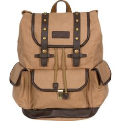 @Overstock - Rakuda Tan Canvas Companion Backpack - This Rakuda canvas backpack features strong canvas, rivets, locking mechanisms, a top-notch design and reliability. The countless features of this backpack combine to make this a comfortable and highly useful traveling backpack that will last.    http://www.overstock.com/Luggage-Bags/Rakuda-Tan-Canvas-Companion-Backpack/7967676/product.html?CID=214117  $99.99