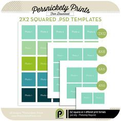 Free Download -2x2 Squared Templates for Photoshop.