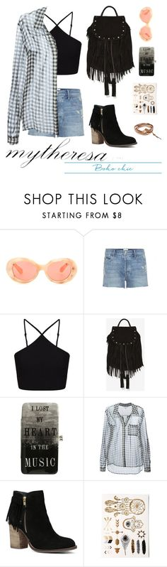 """Let The Sunshine In With mytheresa.com: Contest Entry"" by couldbecassie ❤ liked on Polyvore featuring Acne Studios, Mother, Miss Selfridge, Maison Scotch, Hot Topic, Diane Von Furstenberg, ALDO and Chan Luu"