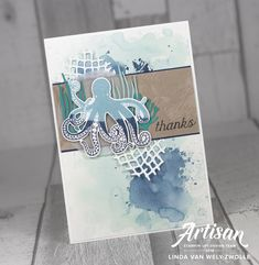 Stampin with Liz Design: Stampin with Liz Design: Sea of Textures Card!