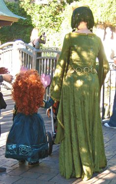 Little Princess Merida and Queen Elinor