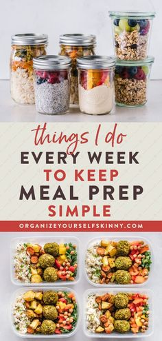 Things I Do Every Week To Keep Meal Prep Simple | Meal Prep for Beginners - Looking to start making your meals in advance to stay on track with your weight loss goals? In this guide, I'm going to give my best tips and resources to get you started with meal prep right away. Organize Yourself Skinny | Meal Planning Tips | How To Lose Weight | Weight Loss For Beginners | Meal Prep Recipes | Healthy Eating | Cleaning Eating | Healthy Habits | Healthy Living | Healthy Lifestyle Healthy Freezer Meals, Healthy Eating Habits, Healthy Eating Recipes, Healthy Foods To Eat, Healthy Living, Easy Meals, Meal Prep Guide, Easy Meal Prep, Healthy Meal Prep
