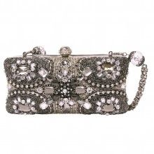 The wear with anything clutch that will be the perfect finishing touch to your evening look?  Runway by Mary Frances