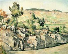 Paul Cezanne : La Route en Provence Huile sur toile, 65 x 81 cm, Londres, The National Gallery Canvas Art Prints, Oil On Canvas, Paul Cezanne Paintings, Cezanne Art, Africa Painting, Paul Gauguin, Oil Painting Reproductions, Art Uk, Henri Matisse