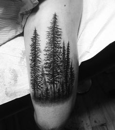 Evergreens remains strong no matter what they have to go through: snow, rain or sun. It's a subtle tattoo but it has such a powerful message.